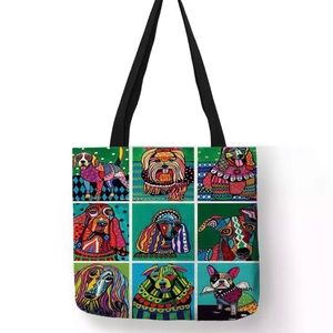 Abstract Funny Collage Dog Tote Bag